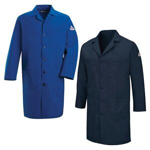 Bulwark Flame Resistant Clothes FR Lab Coat Nomex Blue Work Uniform KNL2