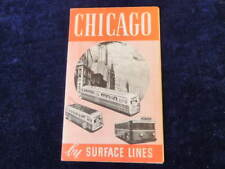 Vtg 1930's-1940's Chicago by Surface Lines Transportation Map Rapid Transp  Q406