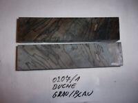 Messergriffrohling Griffschalen Buche gefärbt, mit Epoxit stabilisiert
