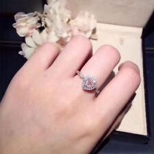 1.50Ct Heart Cut Pink Diamond Halo Engagement Ring 14k White Gold Finish