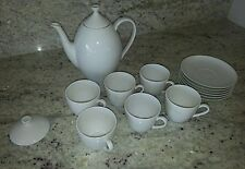 Arzberg vintage white coffee pot & 6 cup set