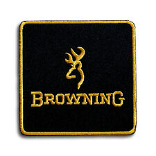 Deer Browning Patch Iron on Gun Badge Shooting Army Biker Hunting Rifle Knife