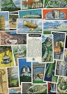 """REGENT OIL 1965 SET OF 25 """"DO YOU KNOW"""" TRADE CARDS"""