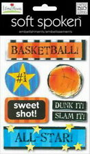 Soft Spoken ELLEN BASKETBALL Sport - Scrapbook Dimensional Craft Sticker MAMBI