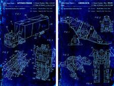 (2) Lot Optimus Prime Grimlock Toy Dinobot Blueprint 11 x 17 Quality Poster