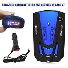 Car 360°V7 Cobra 16 Band Anti-Police GPS Laser Radar Detector Voice Alert Warn