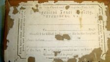 New listing 1864 Imported Signed Civil War Petersburg Evangelical Tract Confederate Bible!