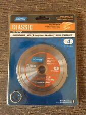 """NORTON 4"""" DIAMOND BLADE 02793 CONTINUOUS STRAIGHT RIM CLASSIC GRANITE MARBLE TIL"""