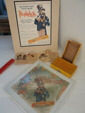 RARE 1908 UNCLE SAM PROPHYLACTIC TOOTHBRUSH ADVERTISEMENT PUZZLE STEAM SHIP BOX