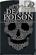 Zippo CM1312 Death Skull Of Words Lighter with PIPE INSERT PL