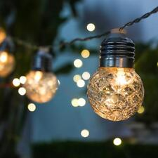 10 LED Solar Powered String Fairy Lights Outdoor Decorative Bulb Ball Lamp 3.8M