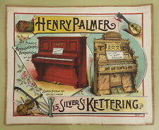 More details for henry palmer silver st kettering antique victorian piano harmonium advertising