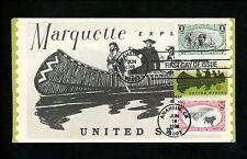 Ranto Cachet US FDC #3209a, h on 1356 Marquette Explorer canoe 1998