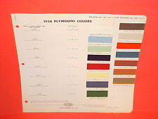 1958 PLYMOUTH BELVEDERE CONVERTIBLE FURY PLAZA SAVOY CUSTOM SUBURBAN PAINT CHIPS
