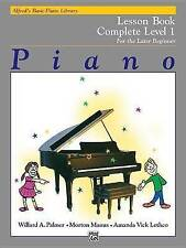 Piano Lesson Book: Complete Level 1, for the Later Beginner by Willard A. Palmer