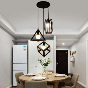 1 Set Black Pendant Light Kitchen Pendant Lighting Bar Lamp Home Ceiling Lights