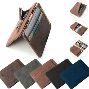 Men's Luxury Faux Leather Thin Wallet Credit Card ID Holder Purse Mini Wallet