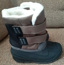 Toddler Boys Size 9 Boots Lev Brown Black Sherpa Lined Cat & Jack
