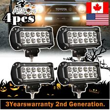 4X 7 inch 36W CREE Flood Beam Offroad SUV UTE 4WD Boat Truck LED Work Light Bar