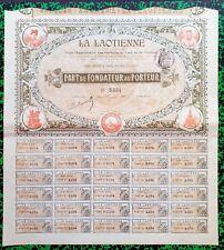 Indochine & Paris IX ème - Beau Décor d'une Ste Coloniale Française  01/07/1900