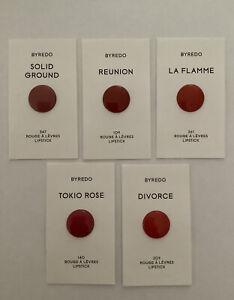 BYREDO Solid Ground Reunion Tokio Rose Divorce Lipstick Set x 5 Makeup New