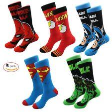 Premium Men Soft Cartoon Super Hero Colorful Dress Socks Avengers Anime Sock