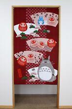 Studio Ghibuli Totoro Noren Curtain HAPPY DARUMA Made in Japan New