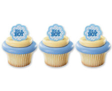 it's a Boy 24ct Baby Shower Cupcake Rings Bag Fillers Party Game Favors Prizes