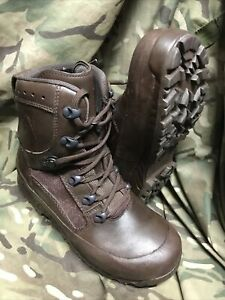 Genuine British Issue Brown High Liability Haix Boots!Hardly Used!size 5 Wide