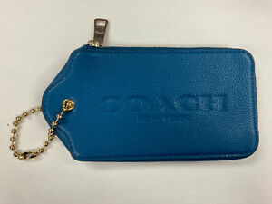 NWT COACH HANGTAG MULITIFUNCTION CASE IN LEATHER F52507 Teal