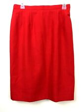 Pendleton Petite Sophisticates Womens Skirt Size 10 Red Lined Modest Vintage