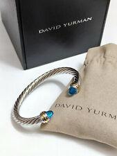 Classic David Yurman Cable Bracelet with Blue Topaz 7mm