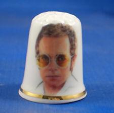 Birchcroft China Thimble -- Music Stars -- Elton John -- Free Dome Box