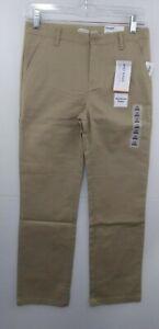 Old Navy Boys Uniform Pants sz 12 Shore Enough Khaki Straight Built-In Flex NWT
