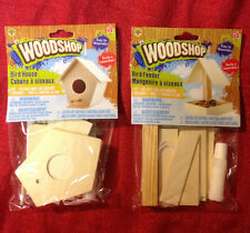 Wooden Birdhouse or Bird Feeder Kit Build A Real Miniature Wood House or Feeder
