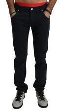 BRIAN DALES Pants Cotton Stretch Black Men Skinny Trousers IT46/W32/S