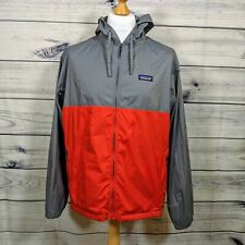 Mens Lightweight Patagonia Jacket - Red/Grey - large packable