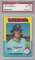1975 Topps baseball card #629 Joe Hoerner, Kansas City Royals PSA 8 NMMT