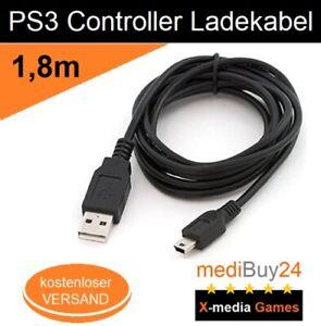 Playstation 3 USB Ladekabel für PS3 Dual Shock Controller Motion 180cm *NEU*