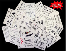 30 sheets Waterproof Tatoo Temporary Skin Stickers Body Art Letters Stylish