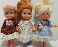 """3 Vintage 1988-89 Cupcake Doll 6"""" Lot RARE Collection"""