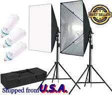 Professional Studio Lighting Stand Kit Set Photo Video Light Lamp Soft Box 5500K