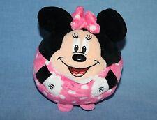 "New listing Ty Beanie Baby Ballz Disney Minnie Mouse 5"" Balls Pink Polka Dots Ball Toy Plush"
