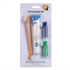 Pet Dog Cat Cleaning Toothpaste Toothbrush Back up Brush Set Chicken Flavour
