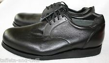 PW Minor Shoe Orthotic Orthopedic Diabetic Black Oxford 13 C Wide Depth Shank