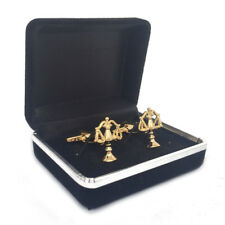 scale of justice cufflinks with box,balance scale cuff links with case