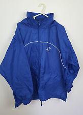De Colección Festival Sportswear Zipup Athletic Lluvia MAC Abrigo Impermeable Canguro Azul L