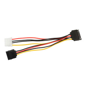 15 Pin SATA Connector to 4 Pin IDE & 15 Pin Jack Power Y Cable Adapter 7