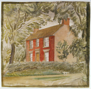 The Red Cottage Eric Ravilious print in 11 x 14 inch mount ready to frame SUPERB