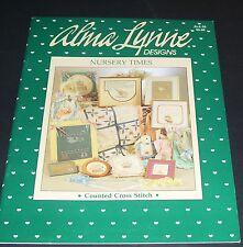 ALMA LYNNE CROSS STITCH ALX-55 NURSERY TIMES 1987 PATTERN BOOK OOP